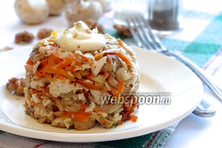 Фото Сытный куриный салат