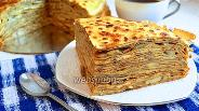 Фото рецепта Блинный пирог с грибами
