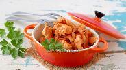 Фото рецепта Капуста тушёная с курицей и фасолью