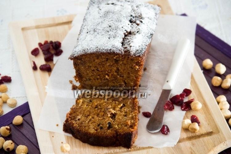 Фото Морковный кекс с орехами