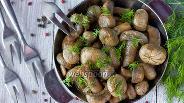 Фото рецепта Шампиньоны в соево-медовом маринаде