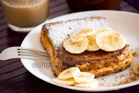 Французский тост с вареньем и бананами