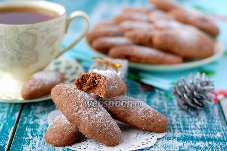 Шоколадные пальчики с орехами