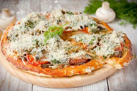 Пицца с утиной грудкой