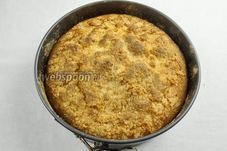 Поставить пирог с клюквой в горячую духовку. Выпекать при температуре 180°С в течение 40-45 минут.
