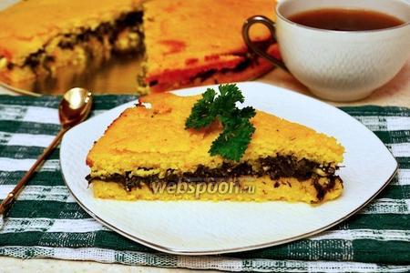 Кукурузный пирог со шпинатом