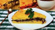 Фото рецепта Кукурузный пирог со шпинатом