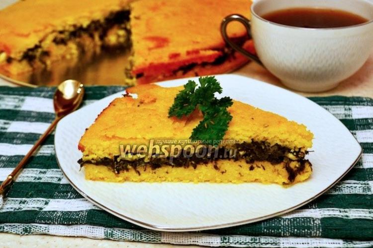 Фото Кукурузный пирог со шпинатом