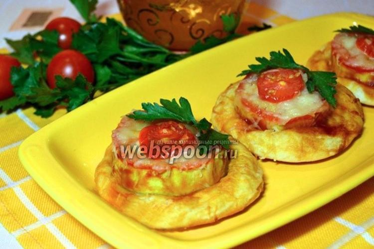 Фото Мини-пиццы с цуккини