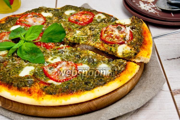 Фото Пицца с соусом песто