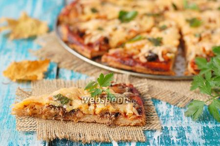 Пицца с консервированной скумбрией