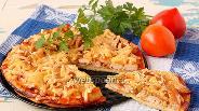 Фото рецепта Пицца с курицей и луком