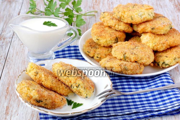 Фото Пшённые биточки с сыром