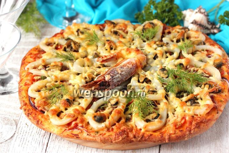 Фото Пицца с морепродуктами