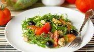 Фото рецепта Салат с рукколой и мидиями