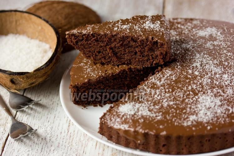 Фото Шоколадно-кокосовый кекс «Crazy cake»