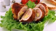 Фото рецепта Кордон Блю из куриных грудок с ветчиной и сыром