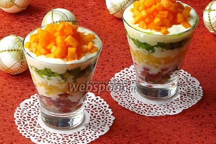 Фото Десертный салат «Услада»