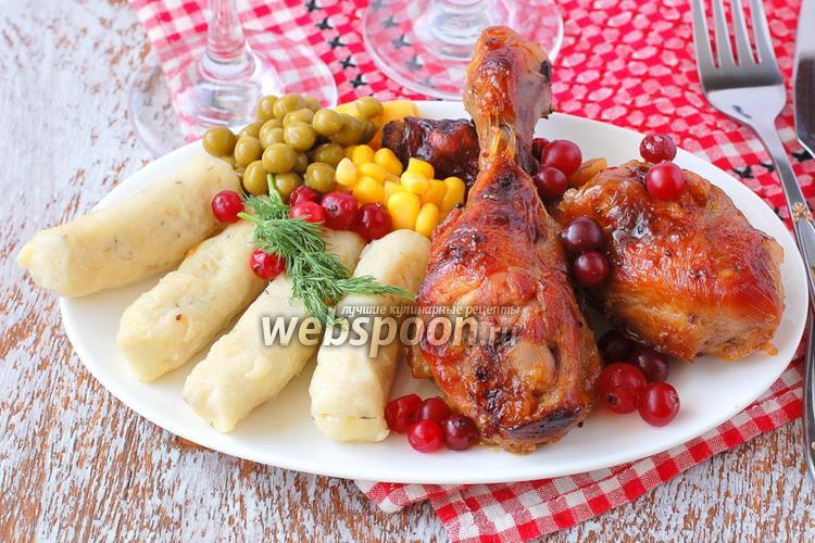 Фото Куриные голени в клюквенно-медовом соусе