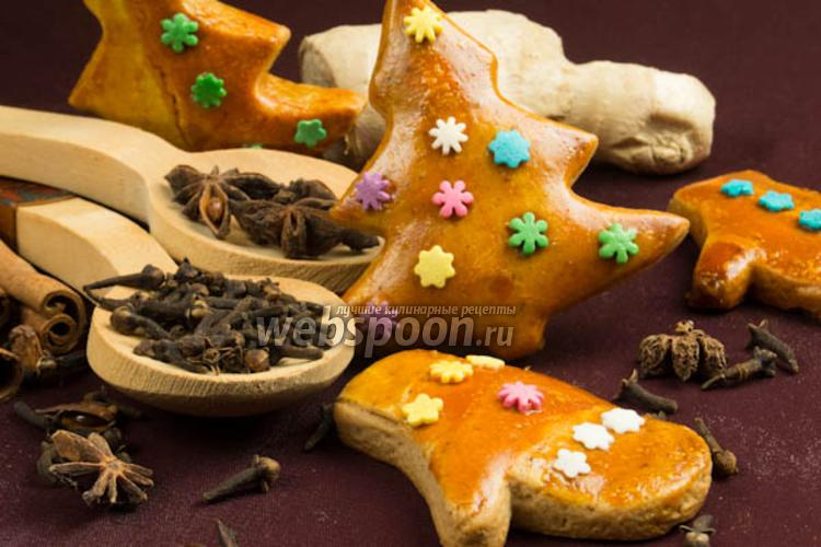 Фото Пряное рождественское печенье в глазури
