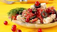 Фото рецепта Салат с курицей, грейпфрутом и клюквой