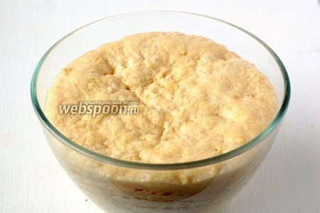 Тесто увеличится в объёме в 2 раза. Такое тесто отлично подходит для пирогов.