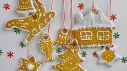 Фото рецепта Рождественское печенье в белковой глазури