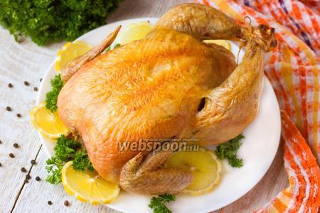 Курица запечённая на соли