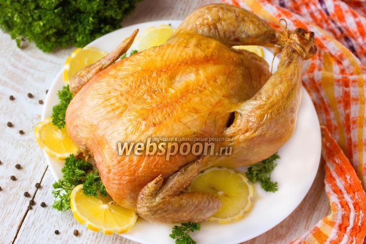 Фото Курица запечённая на соли