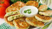 Фото рецепта Оладьи с зелёным луком