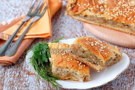 Постный пирог с картофелем и гречкой
