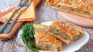 Фото рецепта Постный пирог с картофелем и гречкой