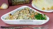 Фото рецепта Жареные вёшенки со сметаной и овощами