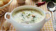 Фото рецепта Суп из вёшенок с плавленым сырком