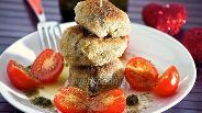 Фото рецепта Котлетки из баклажанов с сырной начинкой