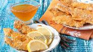 Фото рецепта Куриное филе в сырно-кунжутной шубке
