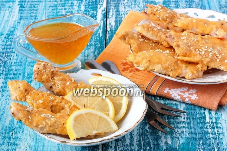 Фото Куриное филе в сырно-кунжутной шубке