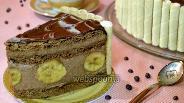 Фото рецепта Шоколадно-банановый торт