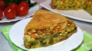 Фото рецепта Пирог из лаваша с курицей