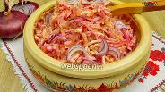 Фото рецепта Острая квашеная капуста со свёклой