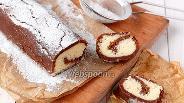 Фото рецепта Рулет из печенья и кокосовой стружки