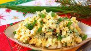 Фото рецепта Салат из зелёного лука, сыра и яиц