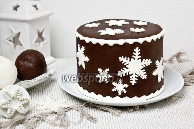 рецепт шоколадной основы для торта под мастику
