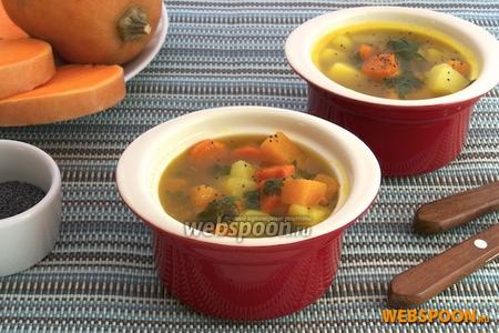 Суп из тыквы с маком