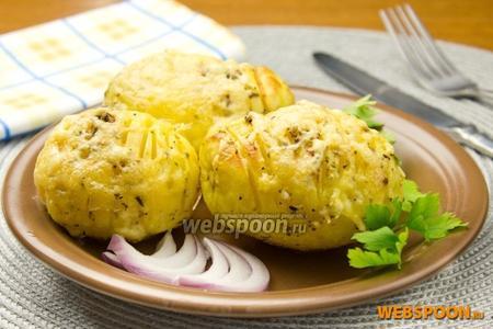Запечённый картофель в итальянских травах