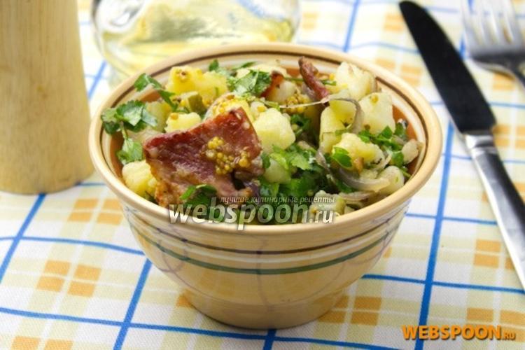 Фото Картофельный салат с беконом
