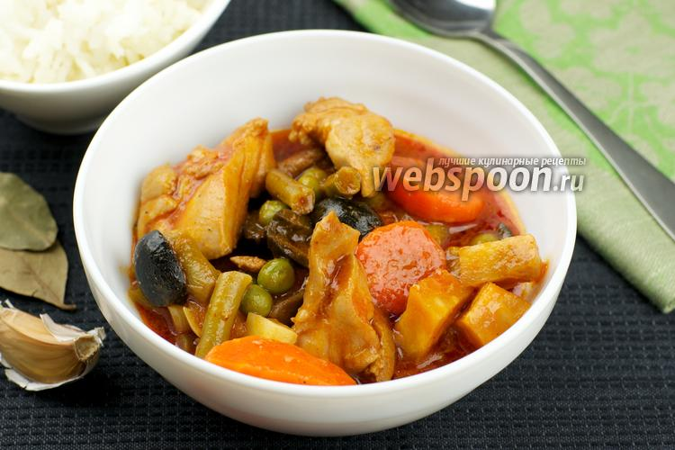 Фото Курица с овощами