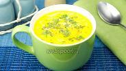 Фото рецепта Сырный суп с печёным перцем