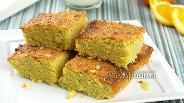 Фото рецепта Пирог из кукурузной муки с миндалем