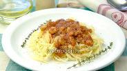 Фото рецепта Паста с креветками и томатной подливой